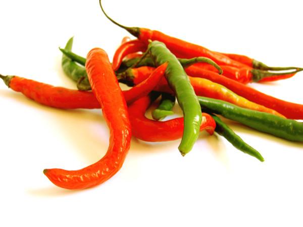 Röd och grön chili