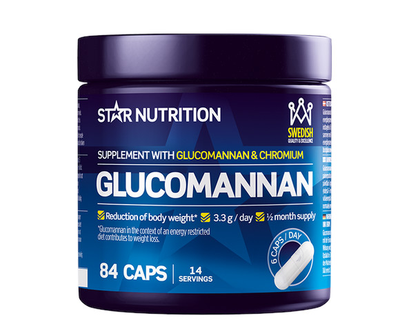 Star Nutrition Glucomannan 84 kapslar, burk